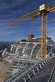 Construction site of the Zugspitze mountain station, Garmisch-Partenkirchen, Bavaria, Germany