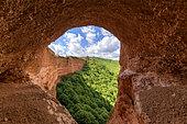 Gallery of Las Medulas, old Roman gold mine, Province of Leon, Spain