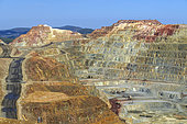 Rio Tinto Mines, Andalusia, Spain. Open copper mines, exploited since antiquity and reopened recently. In 1890, it was the first copper mine in the world in production. Located in the Pyrite Belt, the largest known concentration of pyrite on the planet.