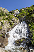 Cascade de Prelles, Drac Valley of Champoléon, Champsaur, Écrins National Park, Hautes-Alpes, France