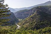 Gorges de l'Eygues at Saint-May, regional natural park of Baronnies provençales, Drôme, France