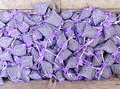 Small sachets of Provencal lavender, Grasse, France