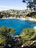 Calanque du Mejean, Blue Coast, Calanques National Park, Mediterranean Sea, France