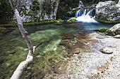 Aiguebrun river, Buoux, Luberon, Vaucluse, Provence, France