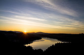 Lake Esparron at sunrise, Verdon Regional Nature Park, Alpes-de-Haute-Provence, France