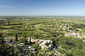 Plaine du Vaucluse seen from the village of Seguret, Provence, France