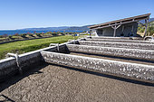 Basins of the purification plant of Capu Laurosu, Propriano, Corsica. Wastewater treatment by membrane technology
