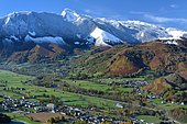 Ancient glacial valley of Bedous, Aspe Valley, Pyrenees, France
