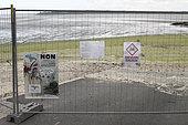 Valais beach closed to the public following the proliferation of green algae: Ulvale (Ulva armoricana) in Saint-Brieuc, Brittany, France