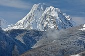 First snow on the Billare, part of the Lescun cirque, Aspe Valley, Pyrenees, France
