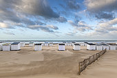 Beach chalets on Calais beach, Pas de Calais, France