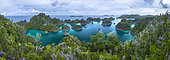 Panorama of Piaynemo, Raja Ampat, Indonesia