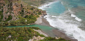 River mouth on Preveli beach, Crete, Greece