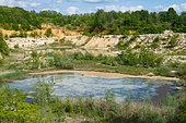 Abandoned sandpit, Vosges du Nord Regional Natural Park, France