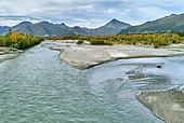 Tok river in fall, Glenn highway: Tok to Anchorage, Alaska