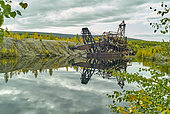 Old gold dredge (1920-1962): second largest excavator in Alaska, Steese highway, from Fox to Circle, Alaska