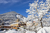 The village of Saint-Etienne-de-Tinée, Tinée Valley, Mercantour National Park, Alpes-Maritimes, France