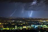 Thunderstorm of August 1, 2017 on Mont du Lyonnais, Villefranche Sur Saône, France