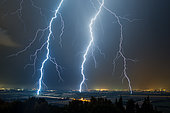 Stormy degradation in the Rhône valley on July 11, 2016, Pierrelatte, Drôme, France