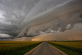 Cold air storm at the end of the day on June 16, 2016, La Beauce, Eure et Loir, France