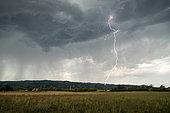 Thunderstorm near Valence, Drôme, France