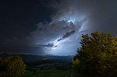 Thunderstorm over the Drôme, France