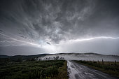 Thunderstorm of August 8, 2017 on the Ardèche, France