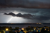 Thunderstorm over the Gironde in the evening on June 8, 2017, Plassac, Gironde, France