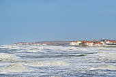Villages of Ambleteuse and Audresselles during the storm Ciara, February 2020, Hauts de France, France