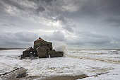 Fort d'Ambleteuse during storm Ciara, February 2020, Hauts de France, France