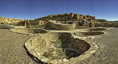Chetro Ketl ancestral Pueblan great house, located in Chaco Canyon Cultral Park, New Mexico.
