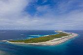Passe de Tiareroa, Atoll d'Ahe, archipel des Tuamotu, Polynésie française
