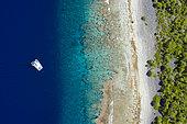 Catamaran, Atoll de Kauehi, archipel des Tuamotu, Polynésie française