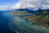 Aerial View of Cook's Bay, Moorea, French Polynesia