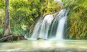 El Chiflon Waterfall long exposure photography, Chiapas, Mexico.