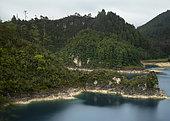 """Lake called """"5 lakes"""" within the Lagunas de Montebello National Park, Chiapas Mexico"""