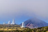 Astronomical observatories near Teide, on the island of Tenerife. The purity of the air at altitude creates ideal conditions for observing the sky on the island of Tenerife, in the Canaries.