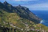 Landscape of the peninsula of Anaga, on the island of Tenerife in the Canary Islands, Taganana Sector, Parque Rural de Anaga, Tenerife, Canaries