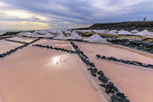 The saltworks of Fuencaliente, on the Island of La Palma in the Canaries. Iconic site of the island of La Palma