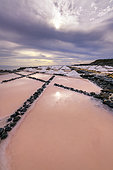 The saltworks of Fuencaliente, on the Island of La Palma in the Canaries. Iconic site of the island of La Palma, whose fleur de sel is very famous throughout the archipelago and even in Spain.