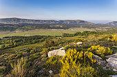Plateau de Caussols view from the Calern plateau, Préalpes d'Azur Regional Natural Park, Alpes-Maritimes, France