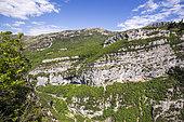 The Gorges du Loup and the village of Courmes, Préalpes d'Azur Regional Natural Park, Alpes-Maritimes, France