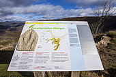 Site of the footprints of dinosaur paws, Le Castellas, Saint-Laurent de Trèves, the Causses and the Cévennes, cultural landscape of Mediterranean agro-pastoralism, classified World Heritage by Unesco, Cévennes National Park, Classified Biosphere Reserve by UNESCO, Lozère, France