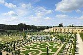 Garden and park, Versailles Orangerie, Palace of Versailles, Île-de-France, France, Europe