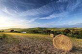 Escalles countryside with Mont d'Hubert and the summit of Cap Blanc-Nez, spring, Hauts de France, France