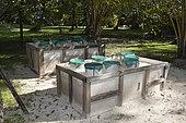 Sea Turtle nesting boxes, New Ireland, Papua New Guinea