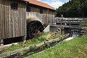 La Hallière sawmill, museum, Haut Fer, blade wheel, Celles sur Plaine, Vosges, France