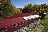 Information wall, Markstein, Route des Cretes, Hautes Vosges, Haut Rhin, France