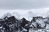 Summit landscape, les 2 Alpes, Isère, France