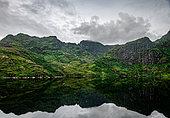Mountain lake in Lofoten, Norway